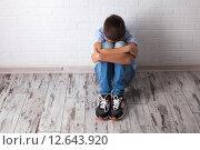 Купить «Расстроенный подросток», фото № 12643920, снято 30 августа 2015 г. (c) Гладских Татьяна / Фотобанк Лори
