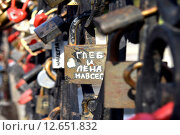 Купить «Замки любви», фото № 12651832, снято 19 марта 2014 г. (c) Сергеев Валерий / Фотобанк Лори