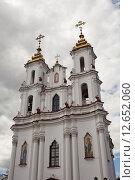Купить «Свято-Воскресенская (Рынковая) церковь в Витебске, Беларусь», фото № 12652060, снято 28 июня 2015 г. (c) Irina Kruskop / Фотобанк Лори