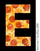 Купить «Пицца в виде буквы», фото № 12652280, снято 9 сентября 2010 г. (c) Александр Подшивалов / Фотобанк Лори