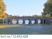 Купить «Старый каменный мост замка Шамбор. Франция», фото № 12653428, снято 19 сентября 2019 г. (c) Владимир Григорьев / Фотобанк Лори