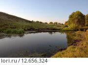 Купить «Река Упа в Тульской области», фото № 12656324, снято 9 августа 2015 г. (c) Валерий Боярский / Фотобанк Лори