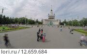 Купить «ВДНХ в Москве, таймлапс», видеоролик № 12659684, снято 15 июля 2015 г. (c) Vladimir Botkin / Фотобанк Лори