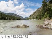 Горный Алтай, река Катунь. Стоковое фото, фотограф Ириша Карбышева / Фотобанк Лори