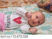 Купить «Гормональная сыпь у новорожденного», фото № 12673328, снято 14 января 2015 г. (c) Анастасия Улитко / Фотобанк Лори