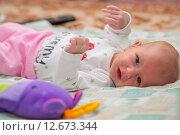 Купить «Гормональная сыпь у новорожденного», фото № 12673344, снято 14 января 2015 г. (c) Анастасия Улитко / Фотобанк Лори