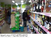 Купить «Interior of Polish supermarket in Barcelona.», фото № 12673612, снято 22 марта 2015 г. (c) Яков Филимонов / Фотобанк Лори