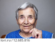 Купить «Portrait of an elderly woman», фото № 12685816, снято 21 августа 2018 г. (c) PantherMedia / Фотобанк Лори