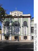 Купить «Лазарет с церковью Марфы и Марии Марфо-Мариинской обители в Москве, ул. Большая Ордынка, 34 строение 3», эксклюзивное фото № 12688508, снято 14 сентября 2015 г. (c) Алексей Гусев / Фотобанк Лори