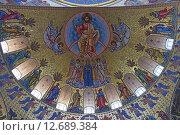 Купить «Фреска свода Морского Никольского собора в Кронштадте», эксклюзивное фото № 12689384, снято 6 марта 2015 г. (c) Максим Мицун / Фотобанк Лори