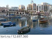 Мальта, Спинола-Бей (2013 год). Редакционное фото, фотограф Алексей Сагин / Фотобанк Лори