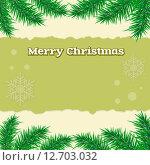 Рождественское поздравление. Стоковая иллюстрация, иллюстратор Liliya Mekhonoshina / Фотобанк Лори