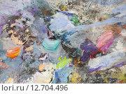 Купить «Разноцветная жизнерадостная палитра», фото № 12704496, снято 12 ноября 2014 г. (c) Elizaveta Kharicheva / Фотобанк Лори