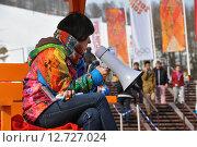 Волонтеры на XXII зимних Олимпийских играх в Сочи 2014 (2013 год). Редакционное фото, фотограф Daniil Nasonov / Фотобанк Лори