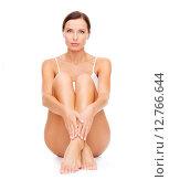 Купить «beautiful woman in white cotton underwear», фото № 12766644, снято 25 июля 2013 г. (c) Syda Productions / Фотобанк Лори