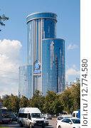 Купить «Здание бизнес-холла Бовид в г. Челябинск», фото № 12774580, снято 13 августа 2015 г. (c) Дмитрий Шульгин / Фотобанк Лори