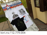 Купить «Волгоград, популярные футболки с изображением президента Владимира Путина», эксклюзивное фото № 12779004, снято 8 мая 2015 г. (c) Дмитрий Неумоин / Фотобанк Лори