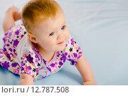 Купить «Девочка в платье», фото № 12787508, снято 26 января 2020 г. (c) Татьяна Гришина / Фотобанк Лори
