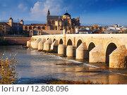 Купить «Cordoba with Roman bridge and Mosque-cathedral», фото № 12808096, снято 5 декабря 2014 г. (c) Яков Филимонов / Фотобанк Лори