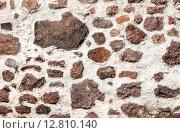 Купить «Грубая каменная стена из природного камня  в средневековом замке», фото № 12810140, снято 17 октября 2018 г. (c) FotograFF / Фотобанк Лори