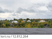Купить «Дачный поселок осенью в Ленинградской области», фото № 12812264, снято 27 сентября 2015 г. (c) Sergei Gushchin / Фотобанк Лори