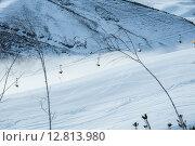 Купить «Ski lifts in Shahdag mountain skiing resort», фото № 12813980, снято 8 февраля 2015 г. (c) Elnur / Фотобанк Лори