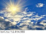 Купить «Солнце и облака», фото № 12814980, снято 30 августа 2015 г. (c) Сергей Трофименко / Фотобанк Лори