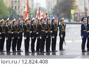 Купить «Военный парад на площади Павших Борцов в Волгограде 9 мая 2015 года», эксклюзивное фото № 12824408, снято 9 мая 2015 г. (c) Дмитрий Неумоин / Фотобанк Лори
