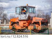 Купить «Дорожный каток HAMM HD85», фото № 12824516, снято 25 апреля 2015 г. (c) Alechandro / Фотобанк Лори