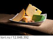 Купить «Various cheese sorts.», фото № 12848392, снято 26 мая 2020 г. (c) PantherMedia / Фотобанк Лори