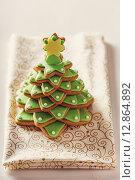 Пряники, Рождественская елка. Стоковое фото, фотограф A_ksenya / Фотобанк Лори