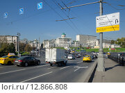Купить «Москва. Боровицкая площадь», эксклюзивное фото № 12866808, снято 25 сентября 2015 г. (c) Елена Коромыслова / Фотобанк Лори