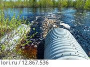 Купить «Трубы с потоком весенней талой воды», фото № 12867536, снято 23 мая 2015 г. (c) Икан Леонид / Фотобанк Лори