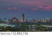 Закат в Крылатском (2015 год). Редакционное фото, фотограф Константин Ламин / Фотобанк Лори