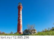Маяк. Глинт Палдиски, Полуостров Пакри, Эстония (2015 год). Стоковое фото, фотограф Andrei Nekrassov / Фотобанк Лори