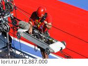 Подготовка видеотрансляции Формулы 1 в Сочи (2014 год). Редакционное фото, фотограф Свистунов Павел / Фотобанк Лори