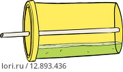 Купить «Isolated Tipped Over Soda Cup», иллюстрация № 12893436 (c) PantherMedia / Фотобанк Лори
