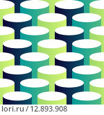 Купить «Abstract isometric 3d circle pattern background», иллюстрация № 12893908 (c) PantherMedia / Фотобанк Лори