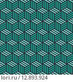 Купить «Isometric 3d cube seamless pattern background», иллюстрация № 12893924 (c) PantherMedia / Фотобанк Лори