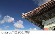 Купить «Запретный город, Пекин, Китай», видеоролик № 12900708, снято 17 октября 2015 г. (c) Владимир Журавлев / Фотобанк Лори