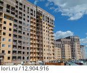 """ЖК """"Татьянин парк"""", строящийся жилые дома, фото № 12904916, снято 17 июня 2015 г. (c) ДЕНЩИКОВ Александр Витальевич / Фотобанк Лори"""