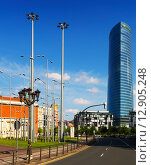 Iberdrola Tower in Bilbao (2015 год). Редакционное фото, фотограф Яков Филимонов / Фотобанк Лори