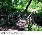 Деревянный мостик (2007 год). Стоковое фото, фотограф Ольга Левадная / Фотобанк Лори
