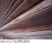 Стена старинного сруба. Стоковое фото, фотограф Алексей Горбунов / Фотобанк Лори