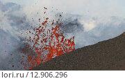 Купить «Полуостров Камчатка, извержение вулкана Плоский Толбачик», видеоролик № 12906296, снято 2 февраля 2013 г. (c) А. А. Пирагис / Фотобанк Лори