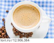 Купить «Утренний кофе», фото № 12906384, снято 9 октября 2015 г. (c) Алёшина Оксана / Фотобанк Лори