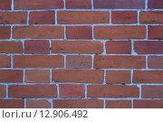 Красная кирпичная стена. Стоковое фото, фотограф Tatyana Emelina / Фотобанк Лори