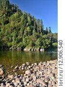 Купить «Река Бия, Алтайский край», фото № 12906540, снято 5 августа 2014 г. (c) Александр Карпенко / Фотобанк Лори
