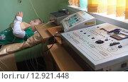 Аппараты для проведения физиотерапии (электрофореза) в детской поликлинике (2015 год). Редакционное видео, видеограф Кекяляйнен Андрей / Фотобанк Лори