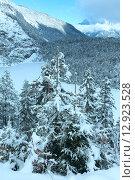 Winter mountain landscape (Austria, Fernpass, Tiroler Alpen) Стоковое фото, фотограф Юрий Брыкайло / Фотобанк Лори